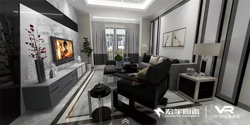 720°看新家 | 瓷砖manbetx万博体育登录的现代家居简奢风,125㎡品质新生活!