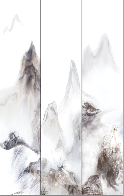 H80001BWPB-BT山影;H80001BWPB-B1山影(2400X2400mm);H80001BWPB-B2山影(1600X2400mm);H80001BWPB-BT1山影(2800X3200