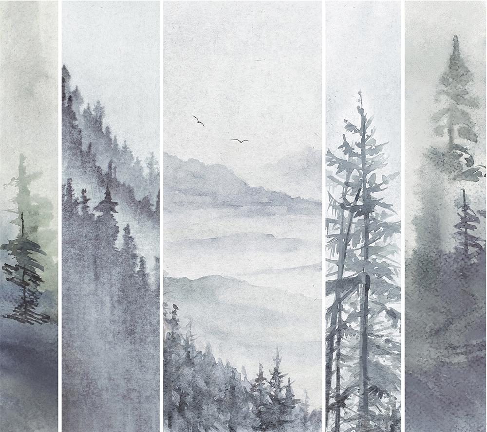 H96001BWJA-BT薄雾远山